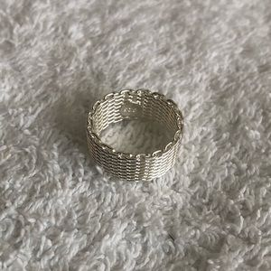 Jewelry - Sterling Silver Woven Mesh Ring